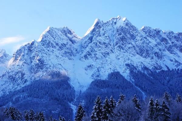 Bavarian Alps Painting - Sunrise On The Alps by Misuk Jenkins