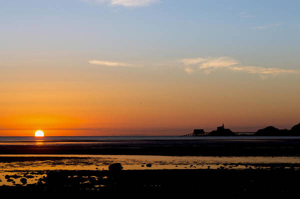 Photograph - Sunrise On The Mumbles by Paul Cowan