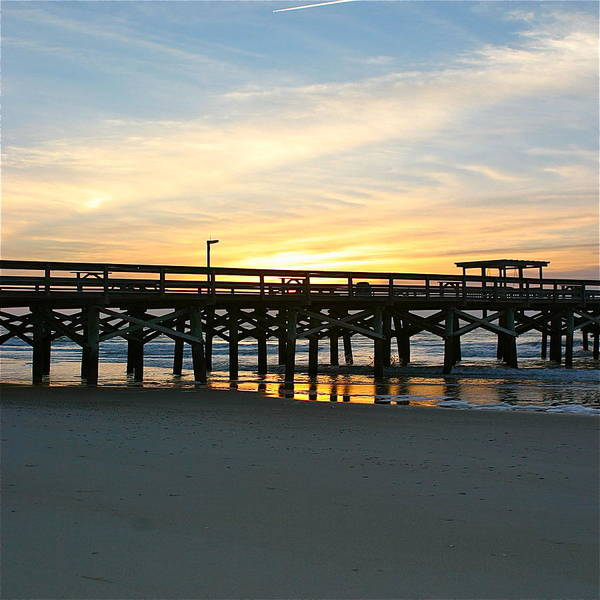 Wall Art - Photograph - Sunrise On The Myrtle Pier by Valerie Tull