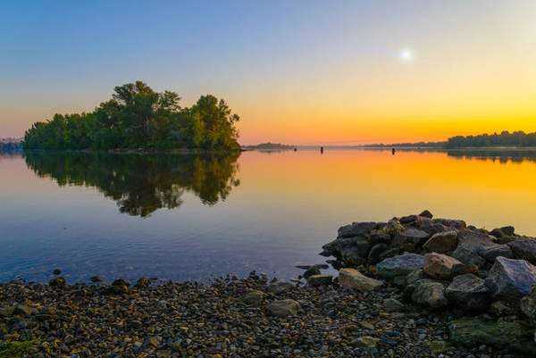 Dnieper Photograph - Sunrise On The River by Alain De Maximy