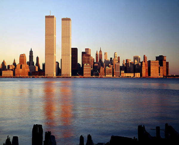 Photograph - 213x01-sunset On The Twin Towers, Ny by Ed  Cooper Photography