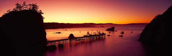 Trinidad Wall Art - Photograph - Sunrise On Trinidad Bay, Trinidad by Panoramic Images