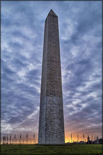 Photograph - Sunrise On Washington Monument by Erika Fawcett