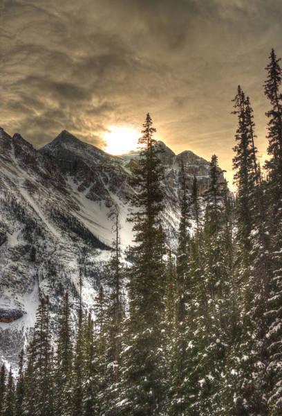 Sunrise Over A Mountain Ridge Art Print