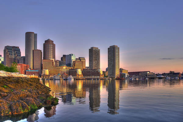 Photograph - Sunrise Over Boston Harbor by Joann Vitali