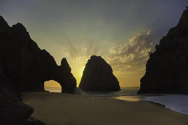 Cabo San Lucas Arch Wall Art - Photograph - Sunrise Over Cabo's Arch by Camilla Fuchs