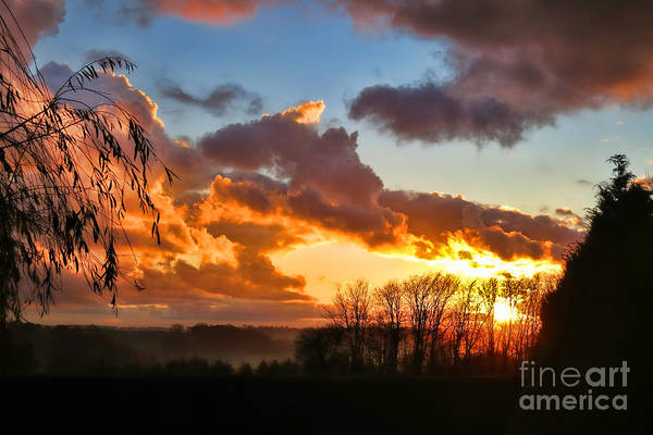Photograph - Sunrise Over Countryside by Olivier Le Queinec