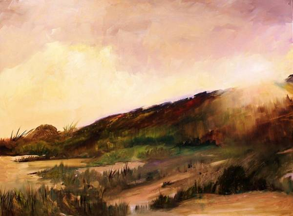 Matanzas Inlet Wall Art - Painting - Sunrise Over Dune by Carol Thornton