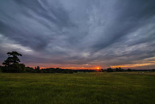 Photograph - Sunrise Over East Texas Field by Todd Aaron