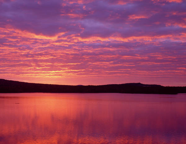 Baxter State Park Photograph - Sunrise Over Grand Lake Matagamon by Panoramic Images