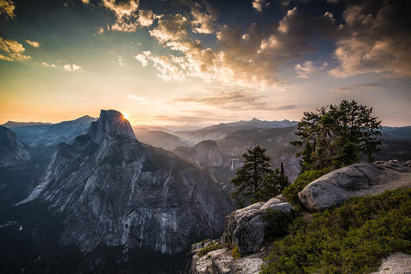 Vernal Fall Photograph - Sunrise Over Half Dome At Glacier Point by Mike Lee