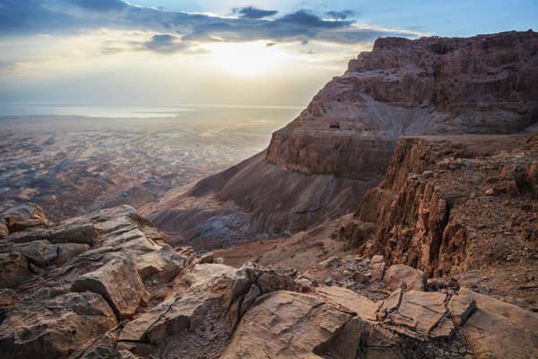 Roman Fort Photograph - Sunrise Over Masada by Reynold Mainse / Design Pics