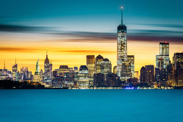 Photograph - Sunrise Over New York City by Mihai Andritoiu