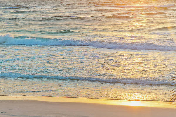 Quintana Roo Photograph - Sunrise Over Ocean And Waves At Beach by Sasha Weleber