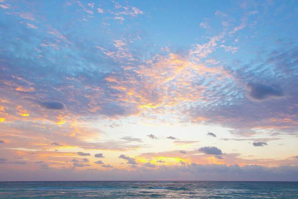 Quintana Roo Photograph - Sunrise Over Ocean At Beach by Sasha Weleber