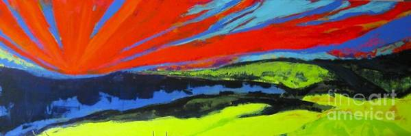 Wall Art - Painting - Sunrise Over Pasture by Jane Ubell-Meyer