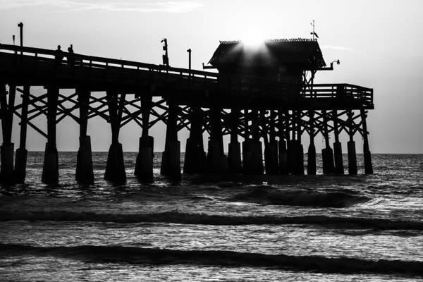 Sunrise Over Pier Art Print
