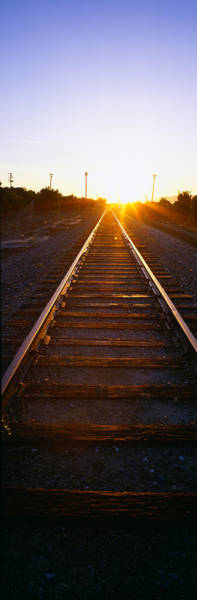 Ventura Photograph - Sunrise Over Railroad Tracks by Panoramic Images