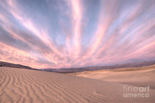 Furnace Creek Photograph - Sunrise Over Sand Dunes by Juli Scalzi