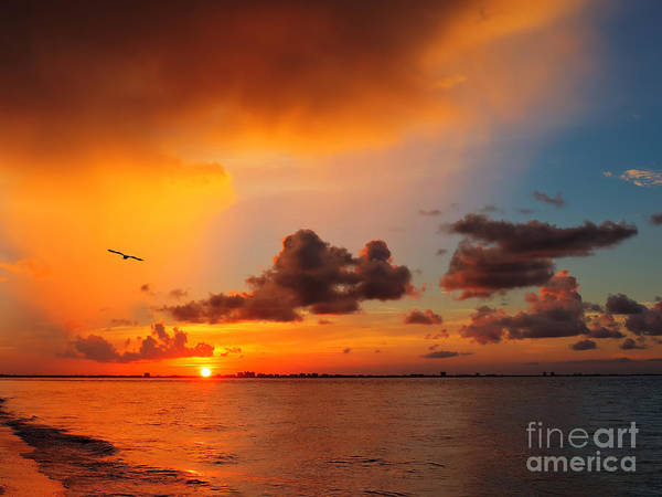 Photograph - Sunrise Over Sanibel Island by Jeff Breiman