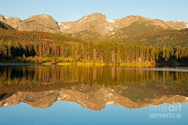 Photograph - Sunrise Over Sprague Lake In Rocky Mountain National Park by Fred Stearns