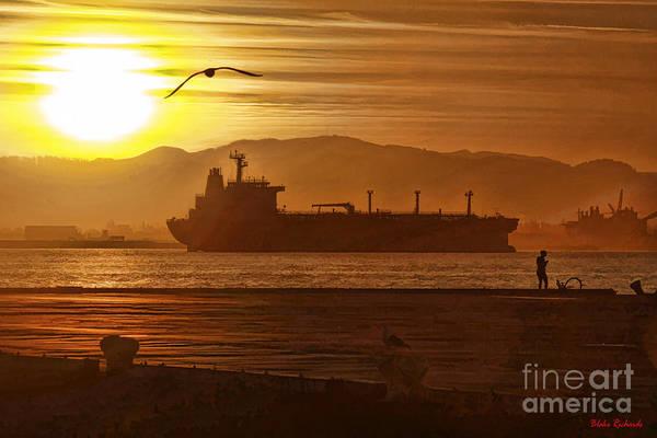 Photograph - Sunrise Over Tanker by Blake Richards