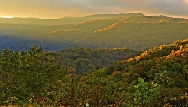 The Great Smoky Mountains Wall Art - Photograph - Sunrise Over The Appalachian Trail by Dan Sproul