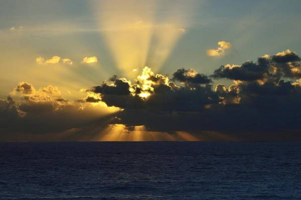 Photograph - Sunrise Over The Carribean Sea by Walt Sterneman