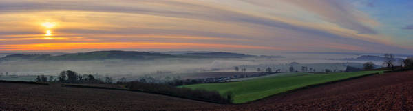 Photograph - Sunrise Over The Culm Valley by Pete Hemington