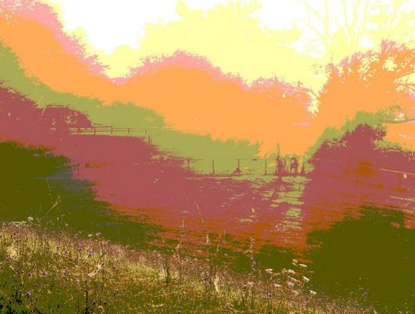 Fence Mixed Media - Sunrise Over The Field by Dan Sproul