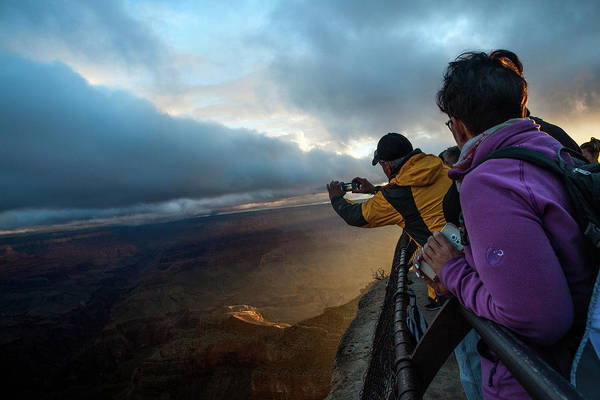 Mather Point Photograph - Sunrise Over The Grand Canyon by Christie Hemm Klok