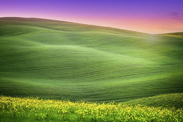 Photograph - Sunrise Over The Hills Spring by Deimagine