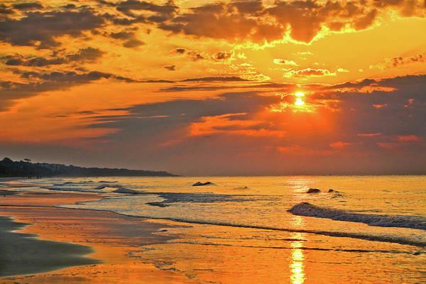 Hilton Head Island Photograph - Sunrise Over The Ocean by Steven Llorca