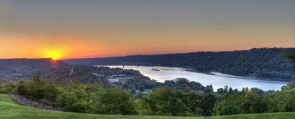 Photograph - Sunrise Over The Ohio River by Walt Sterneman