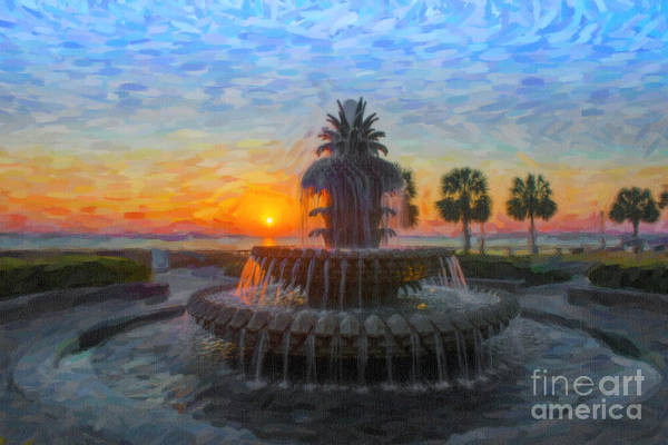 Digital Art - Sunrise Over The Pineapple by Dale Powell