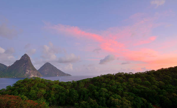 Saint Lucia Photograph - Sunrise Over The Pitons - St. Lucia by Brendan Reals