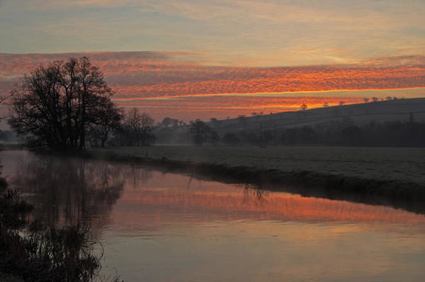 Photograph - Sunrise Over The River Culm by Pete Hemington