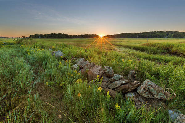 Coastal Marshes Photograph - Sunrise Over The Salt Marsh by Jerry and Marcy Monkman