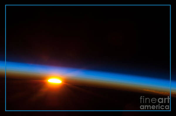 Photograph - Sunrise Over The South Pacific Nasa by Rose Santuci-Sofranko