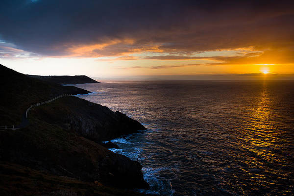 Photograph - Sunrise Over The Wales Coast Path by Paul Cowan