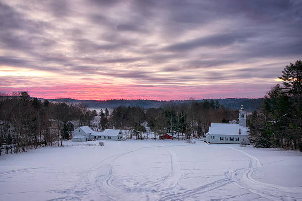 Photograph - Sunrise Over Waterford Village by Darylann Leonard Photography