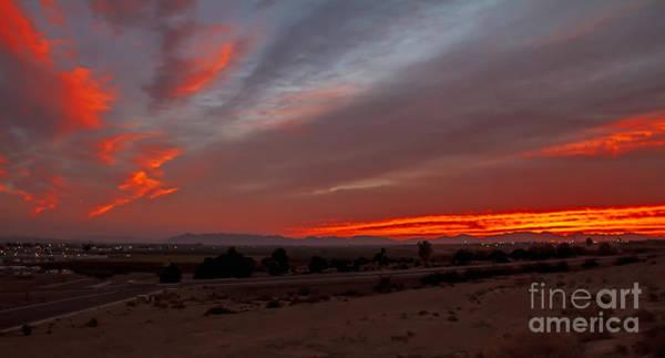 Haybale Wall Art - Photograph - Sunrise Over Yuma by Robert Bales