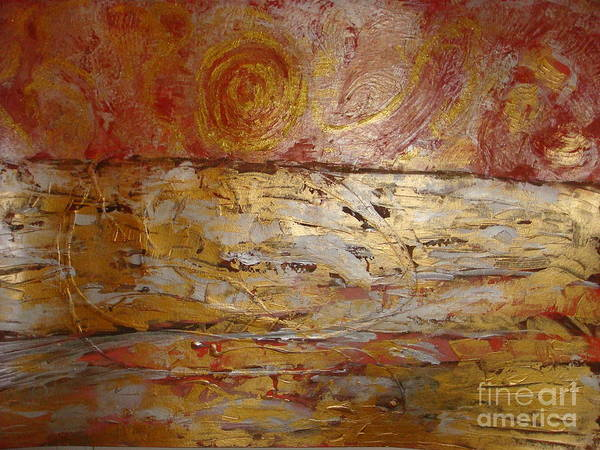 Wall Art - Painting - Sunrise. Pacific Ocean  by Fereshteh Stoecklein