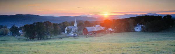 Vt Wall Art - Photograph - Sunrise Peacham Vt Usa by Panoramic Images