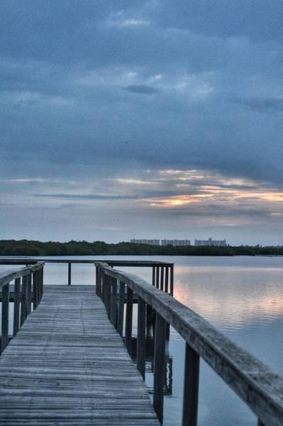 Photograph - Sunrise Pier by Kathy McCabe