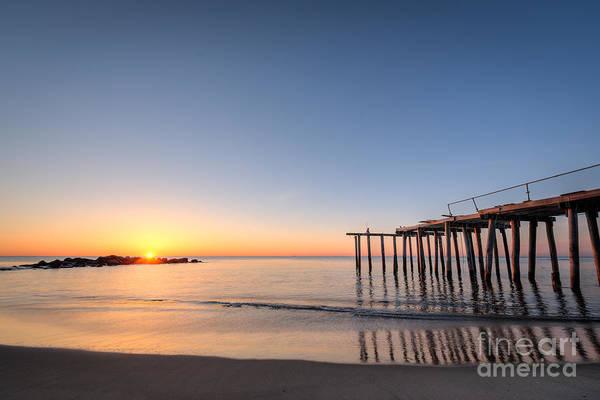 Ocean Grove Photograph - Sunrise Pier by Michael Ver Sprill
