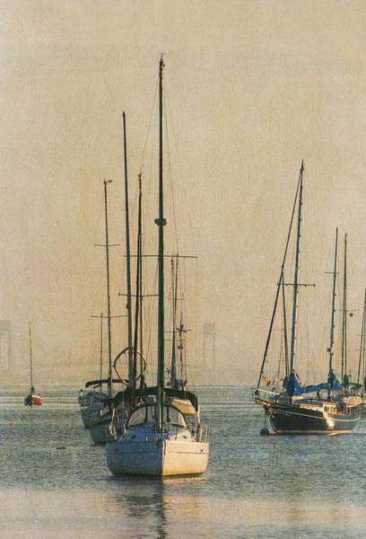 Photograph - Sunrise Sailboats by Gary Slawsky