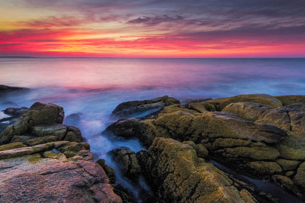 Narragansett Photograph - Sunrise Seascape by Bryan Bzdula