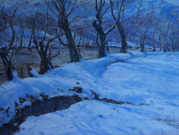 Painting - Sunrise  by Sefedin Stafa