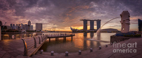 Wall Art - Photograph - Sunrise Singapore by Colin and Linda McKie